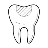 Tooth with filling icon, vector illustration Royalty Free Stock Photography