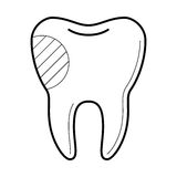 Tooth with filling icon, vector illustration Stock Image