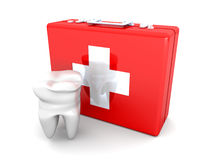 Tooth First aid. 3D rendered illustration. Isolated on white Royalty Free Stock Images