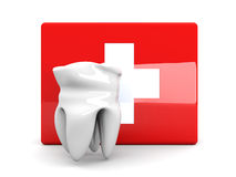Tooth First aid. 3D rendered illustration. Isolated on white Royalty Free Stock Photos
