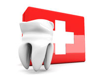 Tooth First aid. 3D rendered illustration. Isolated on white Royalty Free Stock Image