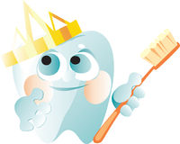 Tooth in a gold crown Royalty Free Stock Images