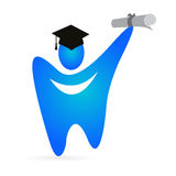 Tooth graduate. Illustration of tooth graduate design isolated on white background Royalty Free Stock Photos