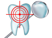 Tooth at gunpoint Royalty Free Stock Photo
