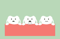 Tooth is halitosis. Dental cartoon vector, tooth is halitosis Royalty Free Stock Photography