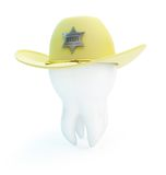 Tooth, hat sheriff Royalty Free Stock Photo