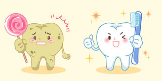 Tooth with health cocnept Royalty Free Stock Photos