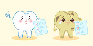 Tooth with health problem Stock Image