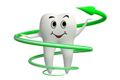 Tooth Herbal protection icon isolated stock images