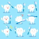 Tooth hold brush Stock Photo