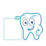 Tooth holding blank sign Stock Images