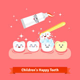 Tooth hygiene icon set Stock Images