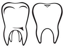 Tooth icon stock illustration