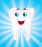 Tooth. Icon over blue background vector illustration Stock Images