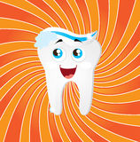 Tooth. Icon over orange background vector illustration Royalty Free Stock Photography