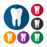 Tooth icon set Stock Photography