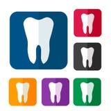 Tooth icon set Royalty Free Stock Photo