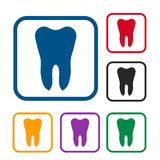 Tooth icon set Royalty Free Stock Images