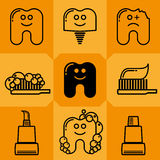 Tooth Icon Set 1 Royalty Free Stock Image