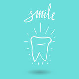 Tooth. Icon  silhouette. Health, medical or doctor and dentist office symbols. Oral care, dental, dentist office, tooth heal Royalty Free Stock Photography