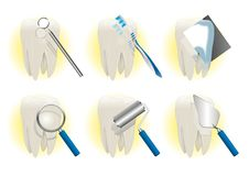 Tooth icons Stock Photography