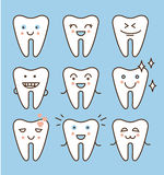 Tooth icons set, dental collection. Vector illustration Stock Photo