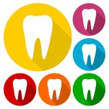 Tooth Icons set Stock Images