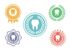 Tooth icons set Royalty Free Stock Photo