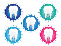 Tooth icons set Stock Photos