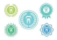 Tooth icons set ,Tooth logo set,Tooth label set Stock Photos