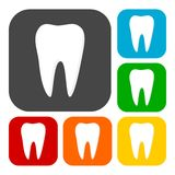 Tooth Icons set Royalty Free Stock Image