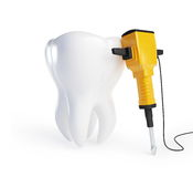 Tooth with a jackhammer Stock Image