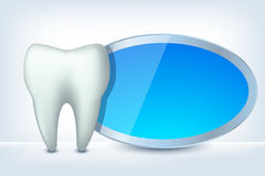 Tooth and label Stock Photography