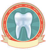Tooth label set. Stock Photography