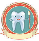 Tooth label set.Vector healthy symbol Stock Photography