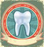 Tooth label set. Vintage Royalty Free Stock Image