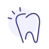 Tooth line icon. Stomatology sign. Vector web sign, button Stock Images
