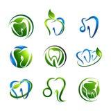 Tooth logo set Dental medical healthcare concept design. Symbol graphic template element vector. Tooth logo set Dental medical healthcare concept design. Symbol vector illustration