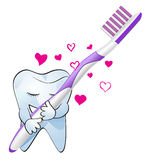 Tooth love Royalty Free Stock Photography