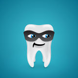 Tooth in mask Royalty Free Stock Images