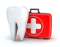 Tooth and Medicine chest. On white background (done in 3d Royalty Free Stock Photos