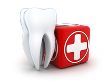 Tooth and Medicine chest Stock Photos