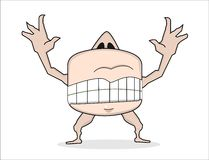Tooth&mounth anormal de forme de monstre de bande dessinée Photos libres de droits