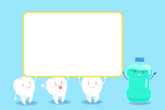 Tooth with mouthwash Stock Image
