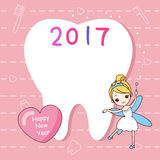 Tooth note with tooth fairy Stock Photography