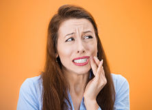 Tooth ouch Royalty Free Stock Image