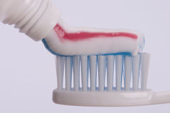 Tooth paste. Tooth brush and tooth paste Royalty Free Stock Photos