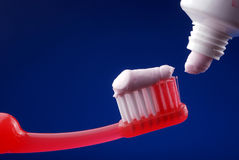 Tooth paste Stock Images