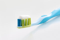 Tooth-paste on a tooth-brush Royalty Free Stock Photo