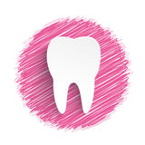 Tooth Pink Scribble Royalty Free Stock Photography